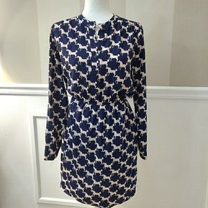 Maison Jules long-sleeve Navy print dress